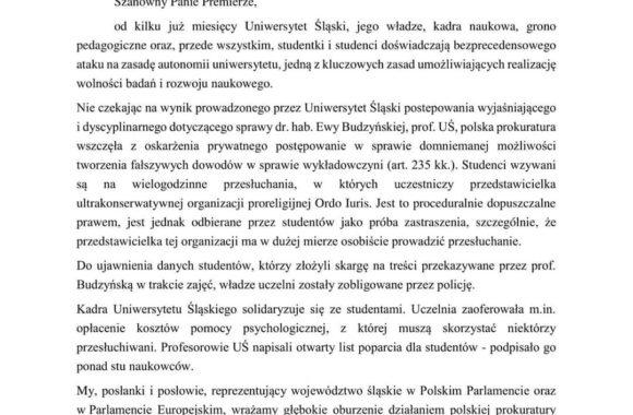 Skierowaliśmy pismo do Premiera Mateusza Morawieckiego!