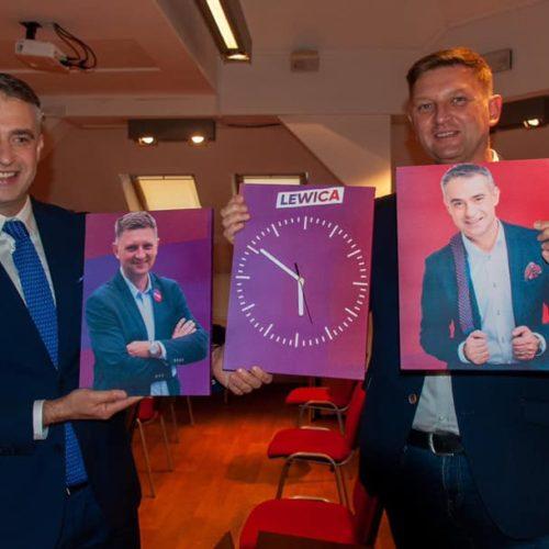 Krzysztof Gawkowski i Andrzej Rozenek otwarcie  nowego biura w Wołominie