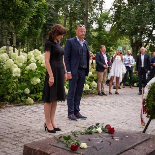 Złożyliśmy wieniec pod pomnikiem Konstantego Kalinowskiego – bohatera Litwy