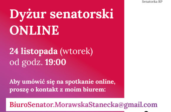 Dyżur senatorski ONLINE!