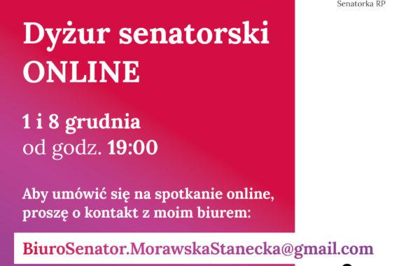 Kolejny dyżur senatorski online