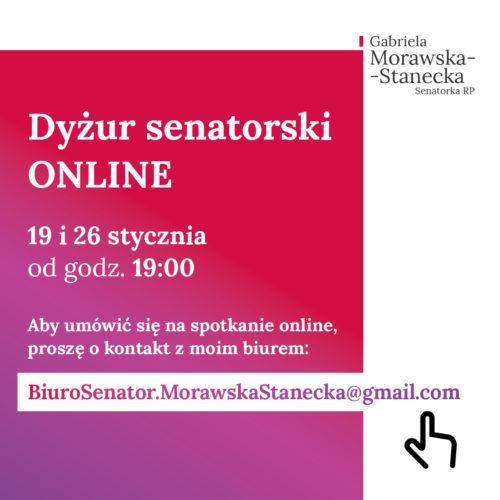 Dyżury senatorskie online