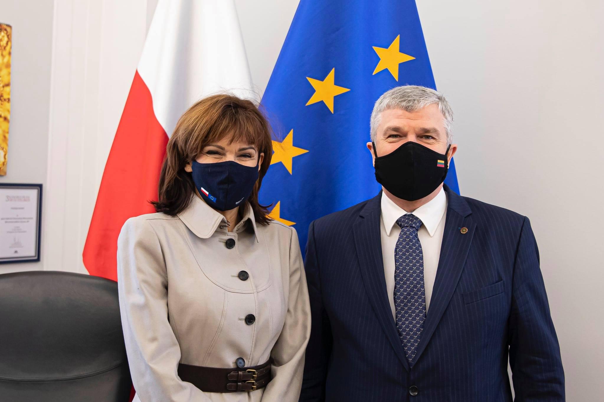 Wizytę u Wicemarszałkini Senatu Gabrieli Morawskiej-Staneckiej