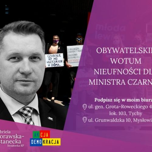 100 tys. podpisów pod odwołaniem Ministra Przemysława Czarnka