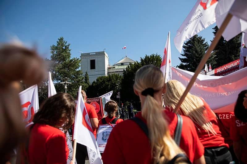 Protestujący pracownicy sądów i prokuratur 4
